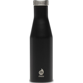 MIZU S4 Insulated Bottle with Stainless Steel Cap 400ml Enduro Black